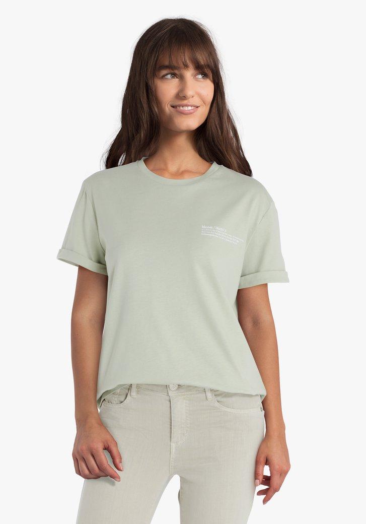 T-shirt vert marin avec imprimé