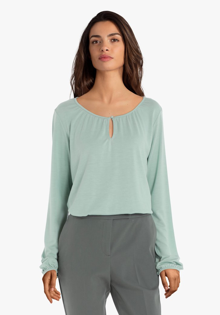 T-shirt vert menthe en lyocell