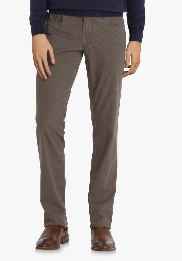 Taupe broek - Jackson - regular fit