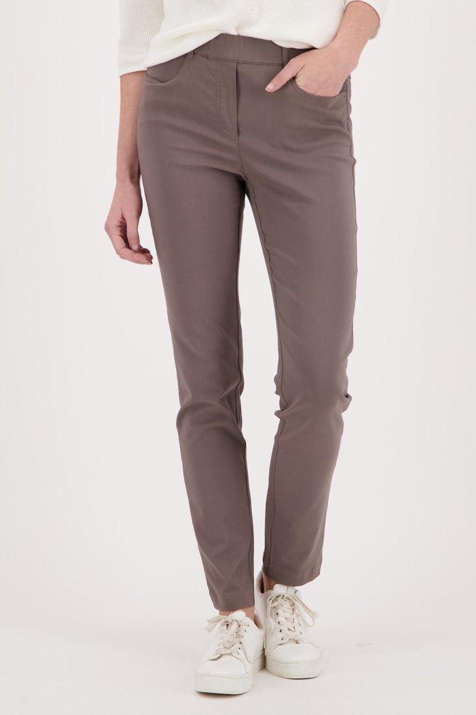 Taupe legging in stretchstof Dames, merk: Claude Arielle