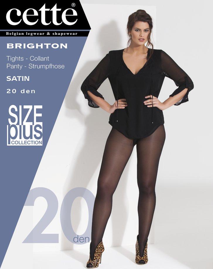 Taupe panty size plus Brighton - 20 den Dames, merk: Cette