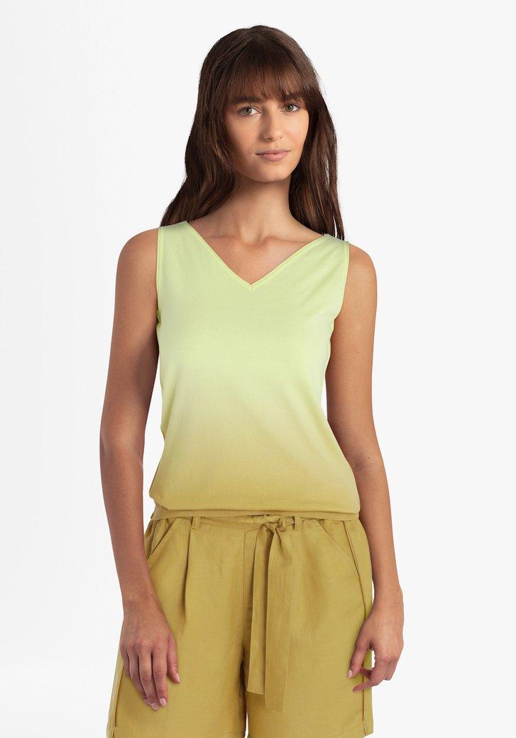 Top en tricot jaune avec effet ombré