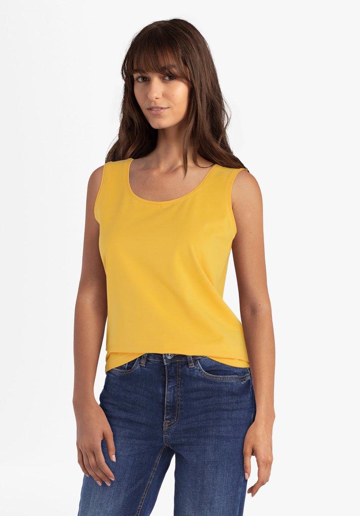 Top jaune doré avec larges bretelles