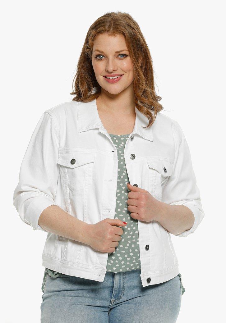 Veste courte en jean blanche
