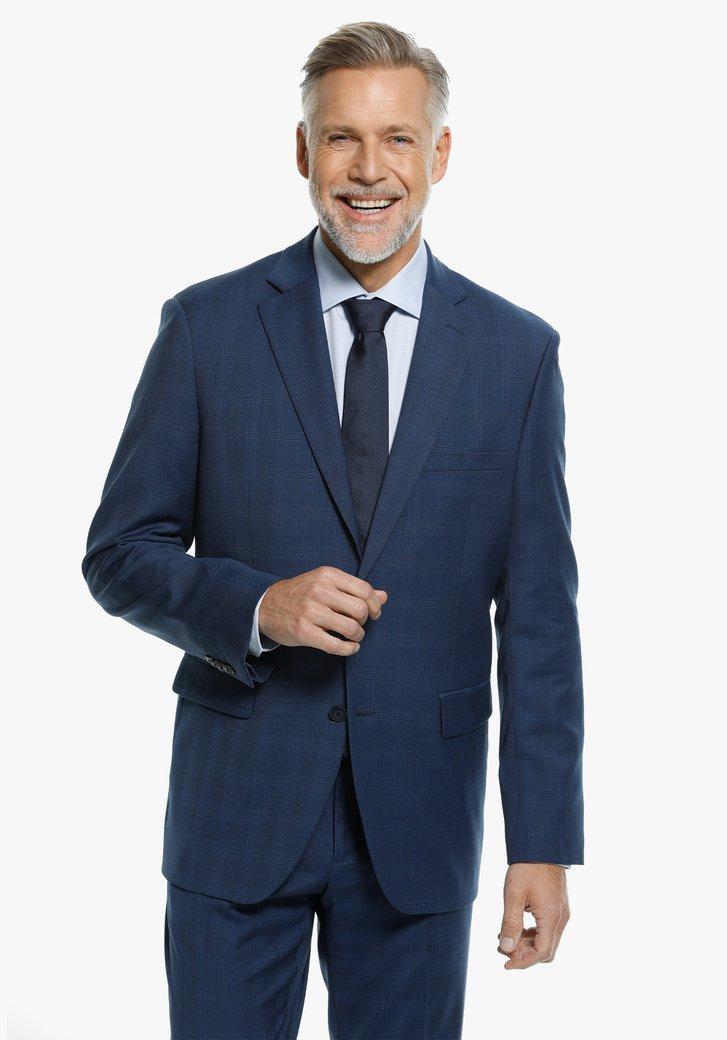 Veste de costume bleu à carreaux - comfort fit