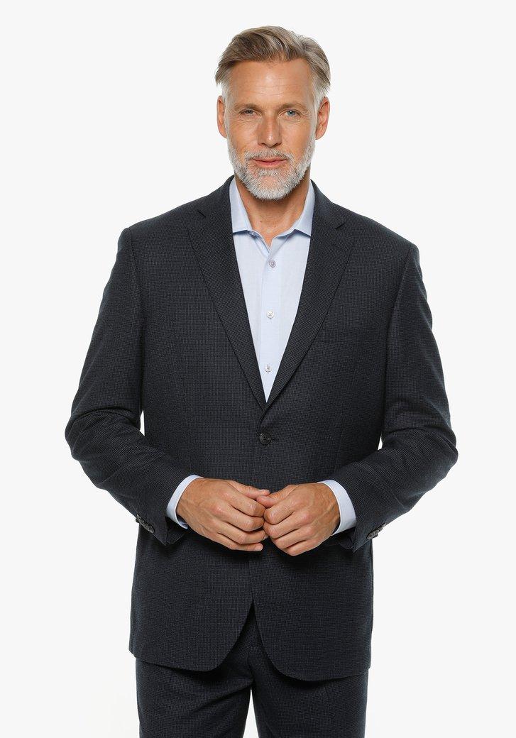Veste de costume bleu à imprimé - comfort fit