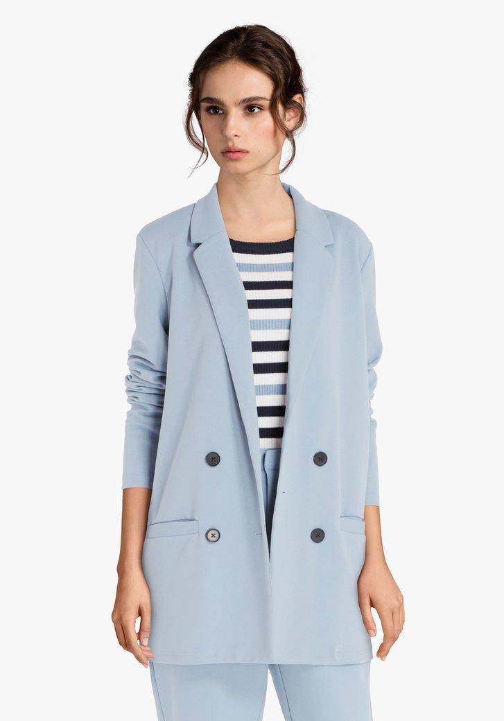 Veste de costume bleu clair avec du stretch