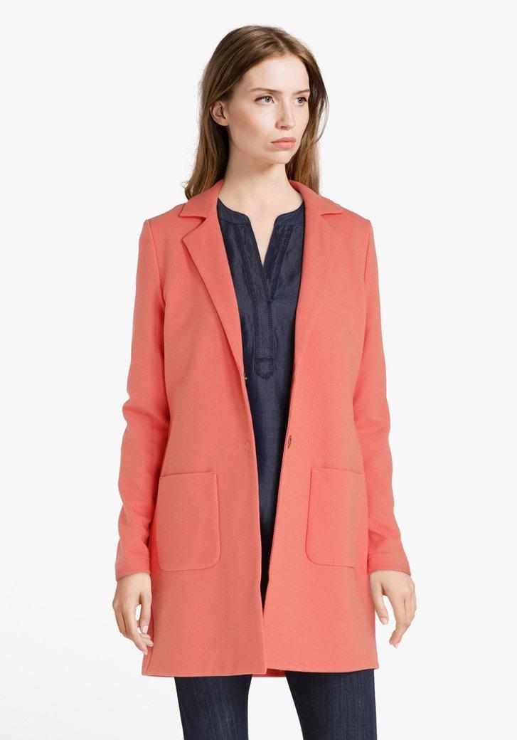 Veste orange avec revers de col