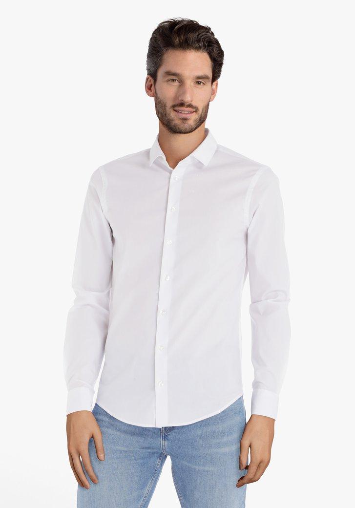 Wit hemd in stretchkatoen – slim fit
