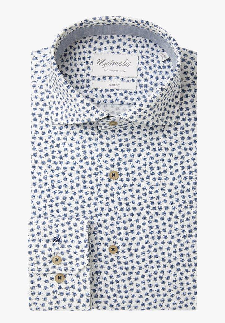 Wit hemd met bijtjes - slim fit