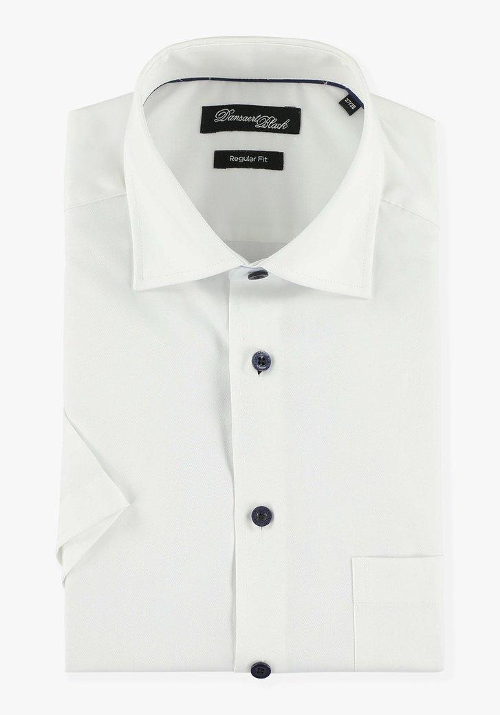 Wit hemd met korte mouwen - regular fit