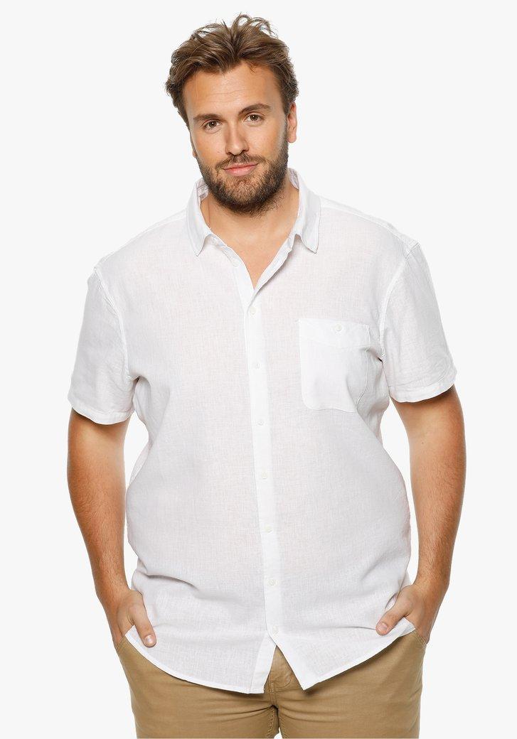 Wit hemd met linnen