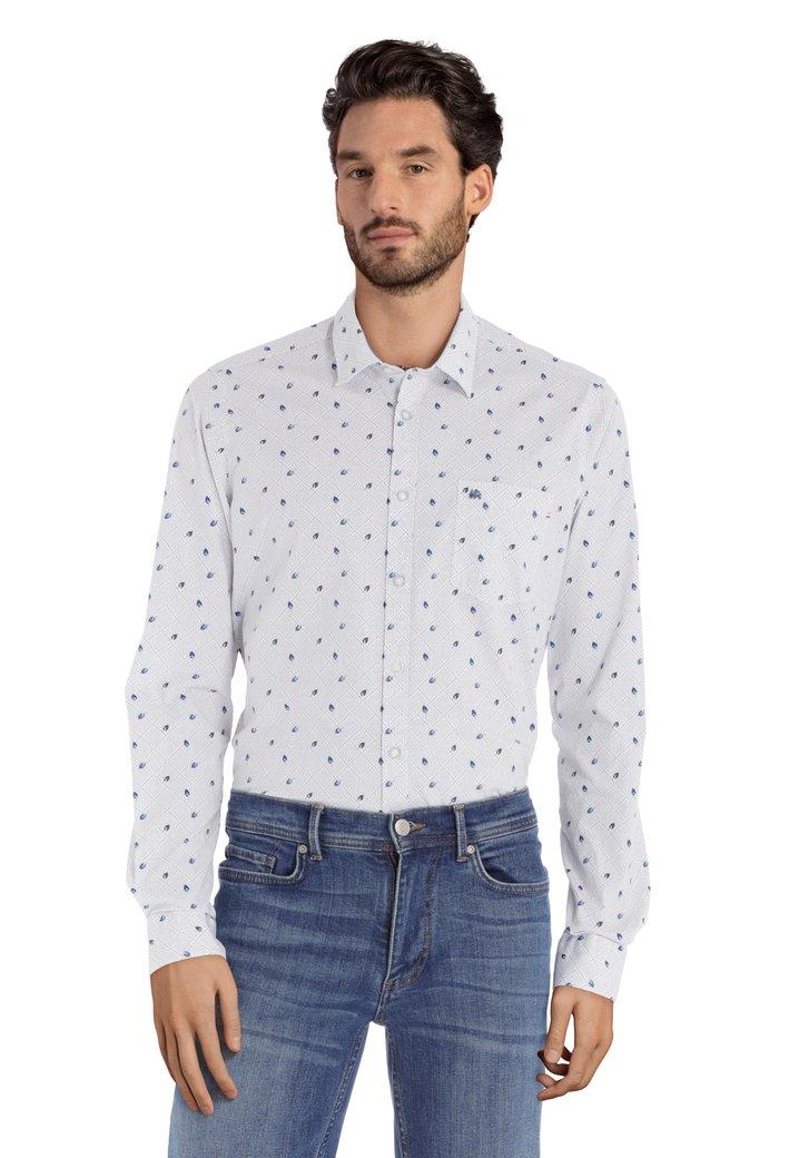 Wit hemd met veertjes