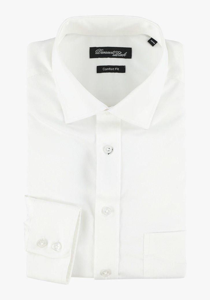 Wit hemd met zijdelook - comfort fit