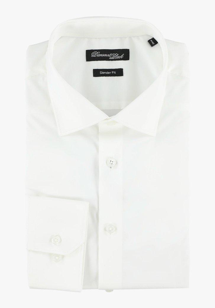 Wit katoenen hemd - slender fit