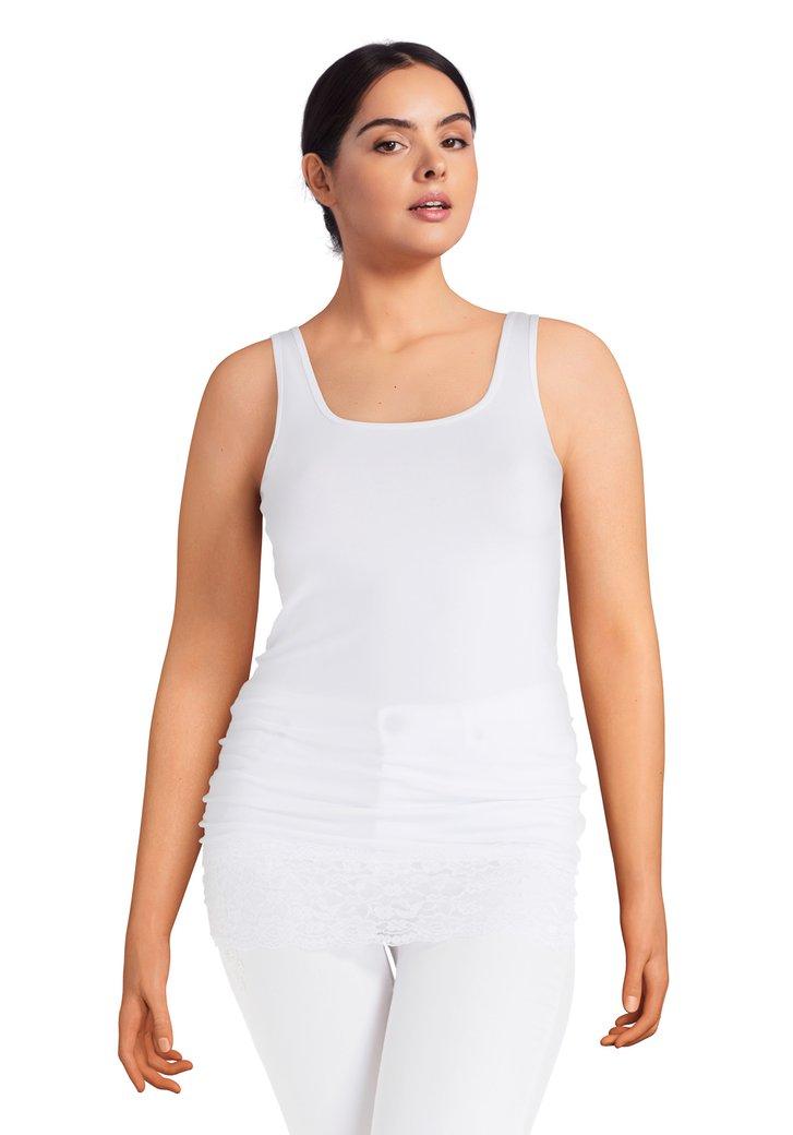 Witte basic top met kant