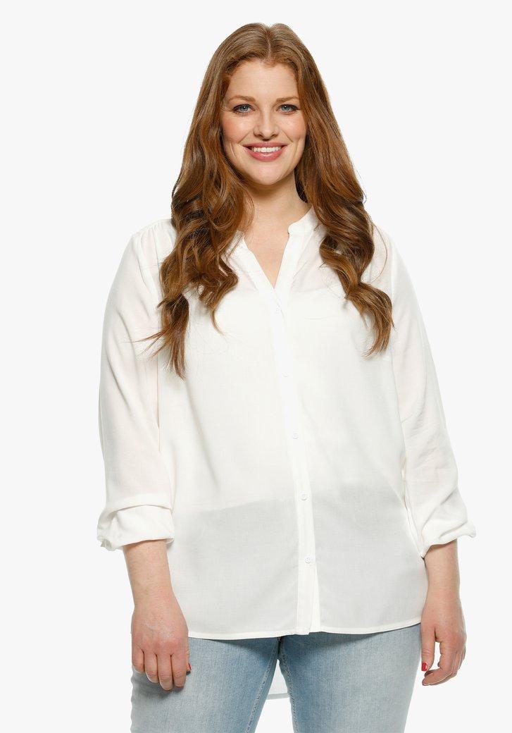Witte blouse met V-hals