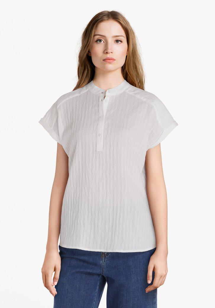 Witte blouse met viscose