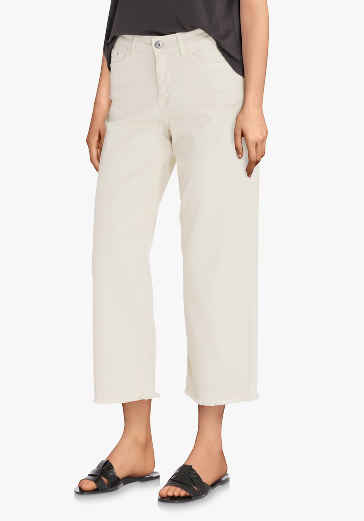 Witte cropped denim - straight fit