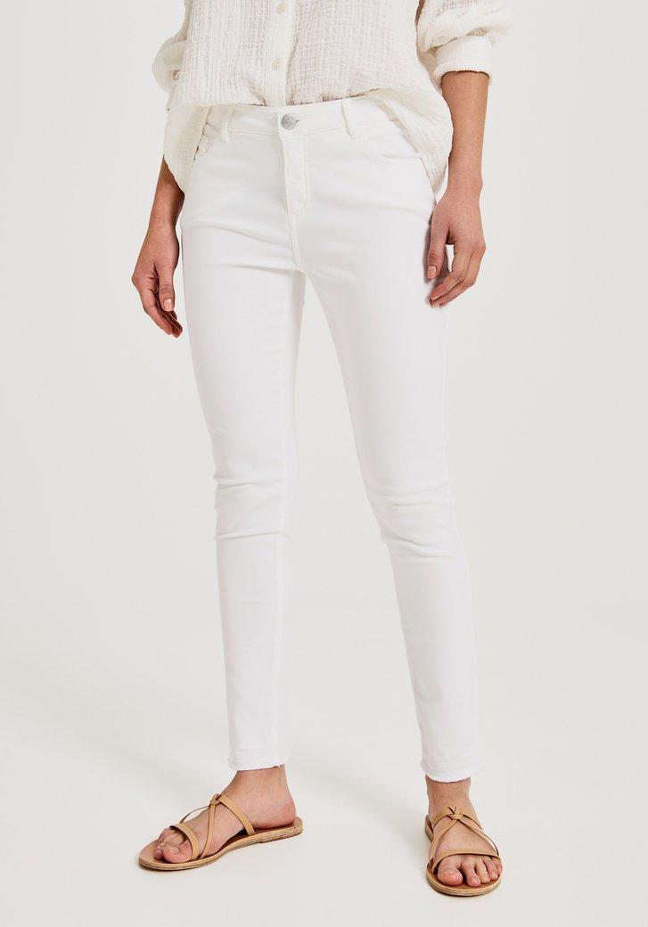 Witte denim - skinny fit