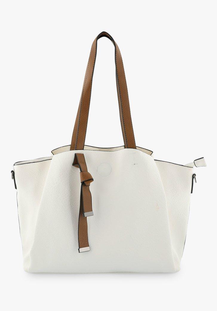 Witte handtas met schouderriem