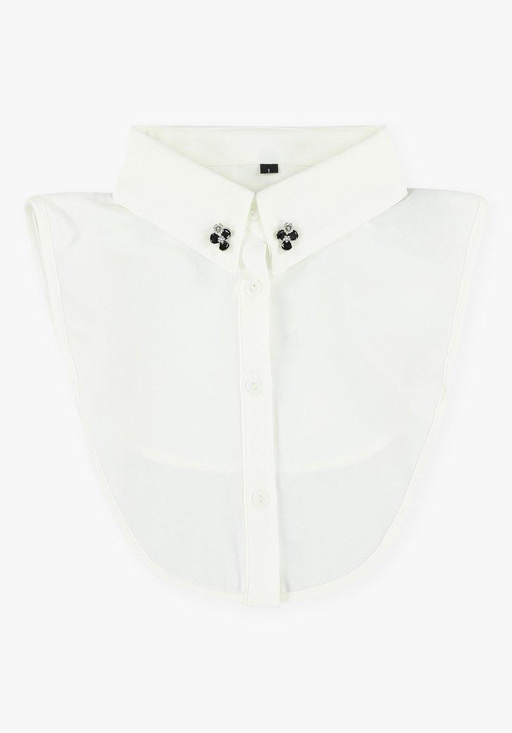 Witte kraag met kleine afneembare sierspelden