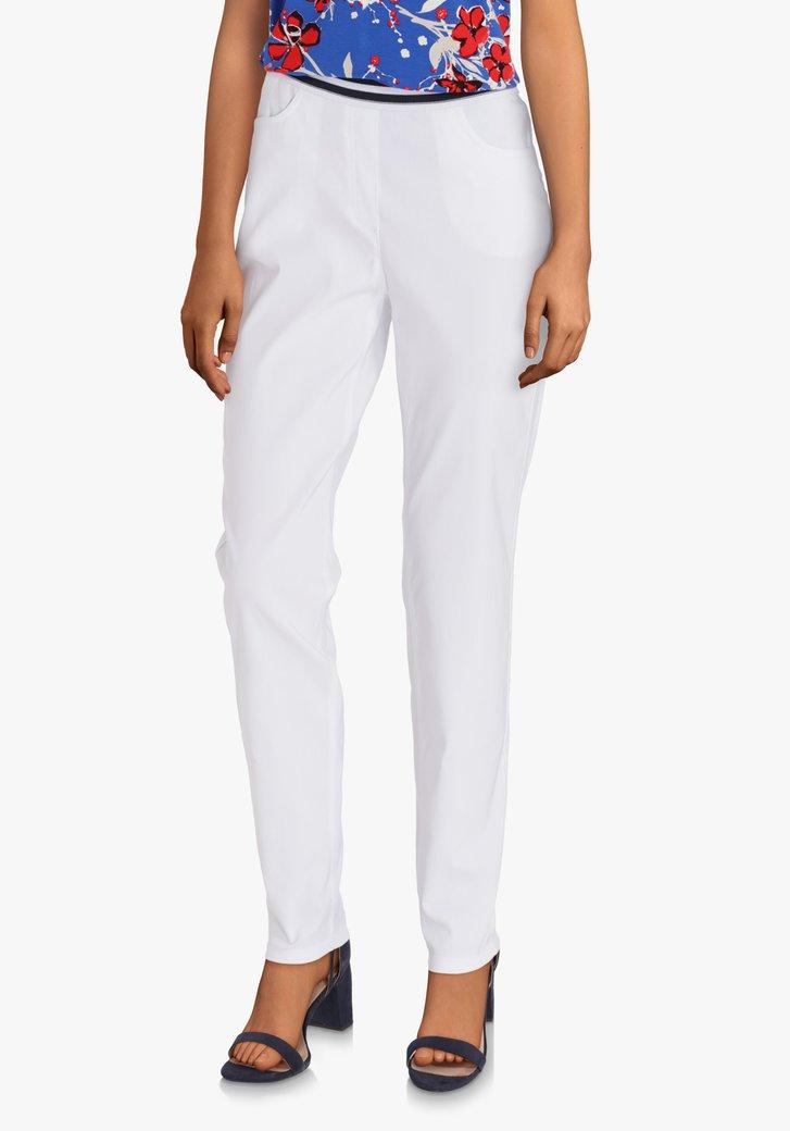 Witte legging met elastische taille