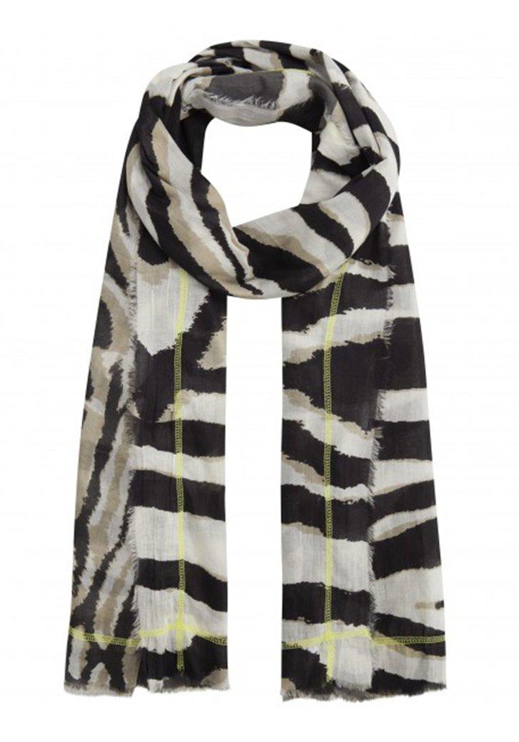 Witte sjaal met zebraprint
