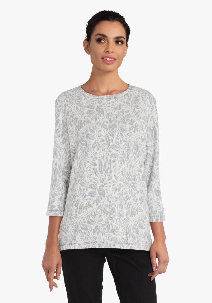 Witte T-shirt met donker motief