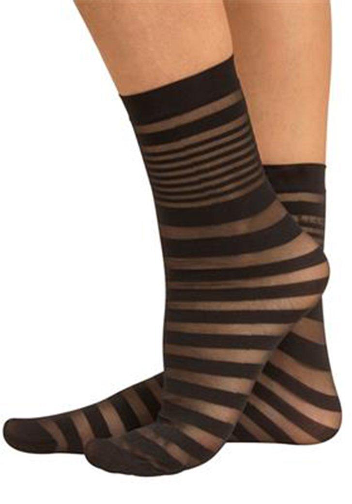 Zebra sokjes met transparante lijnen