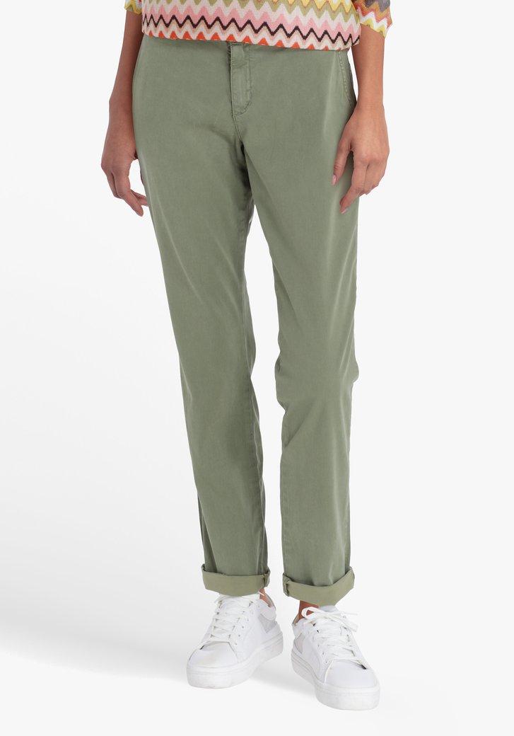 Zeegroene broek - straight fit