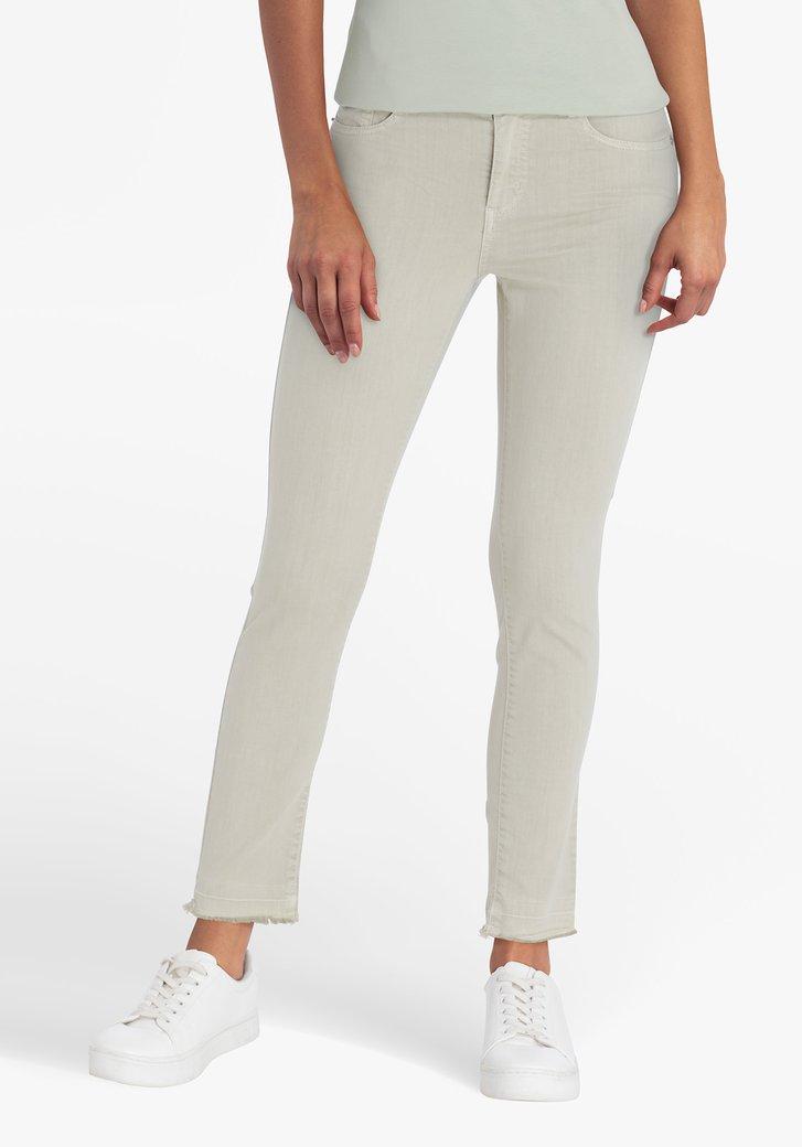 Zeegroene jeans - skinny fit