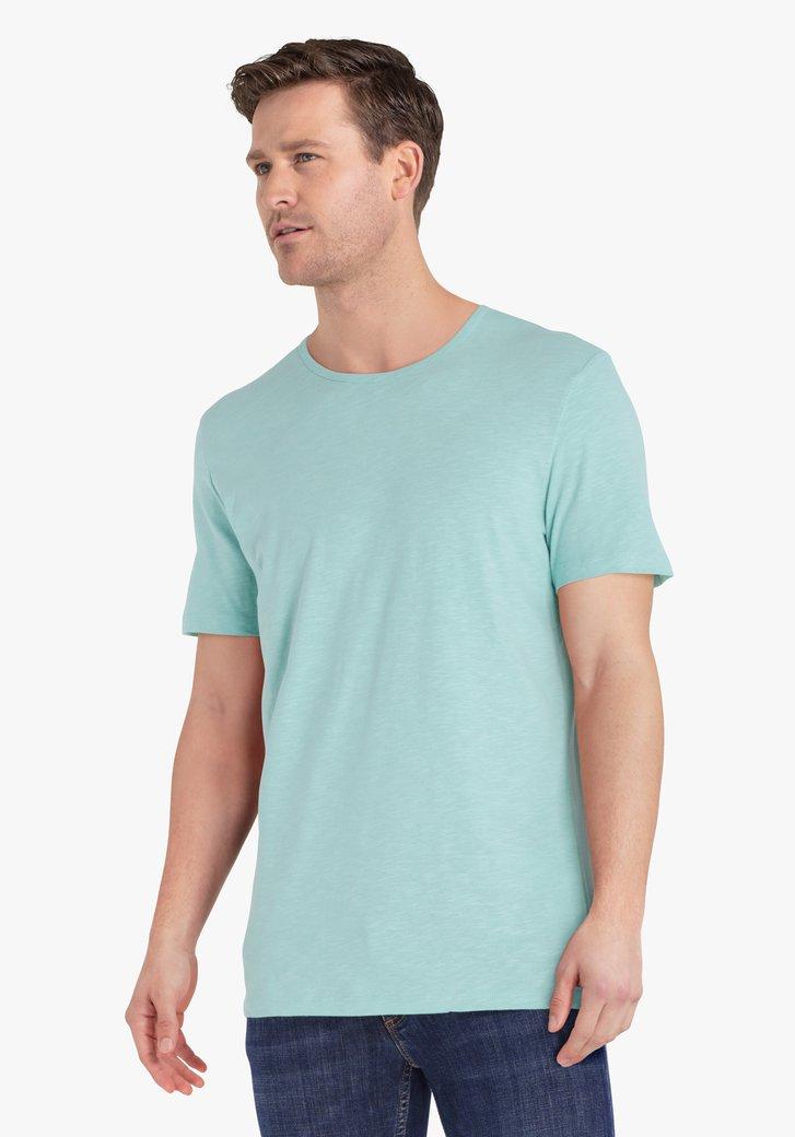 Zeegroene T-shirt