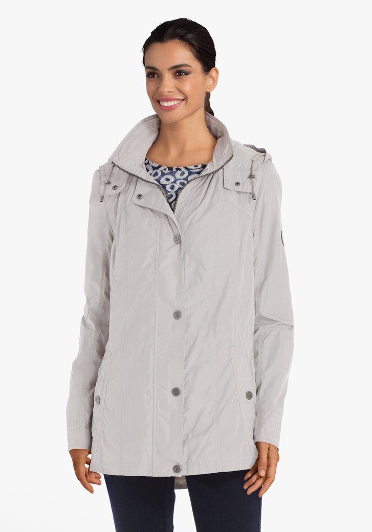 Afbeelding van Zilverkleurige regenjas met afneembare kap