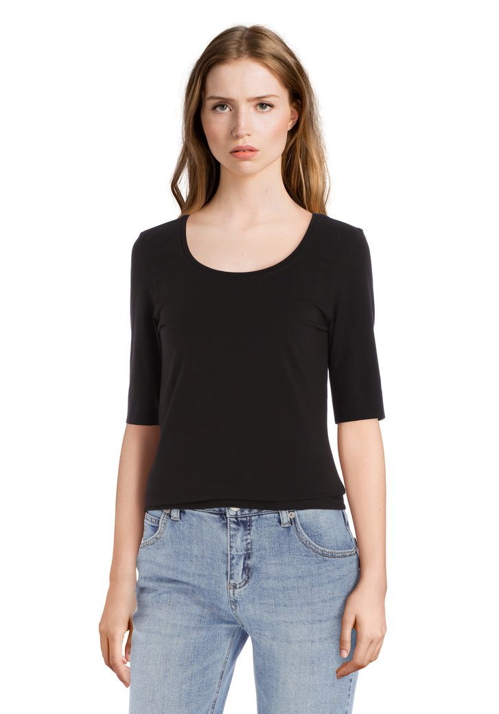 Zwart basic T-shirt