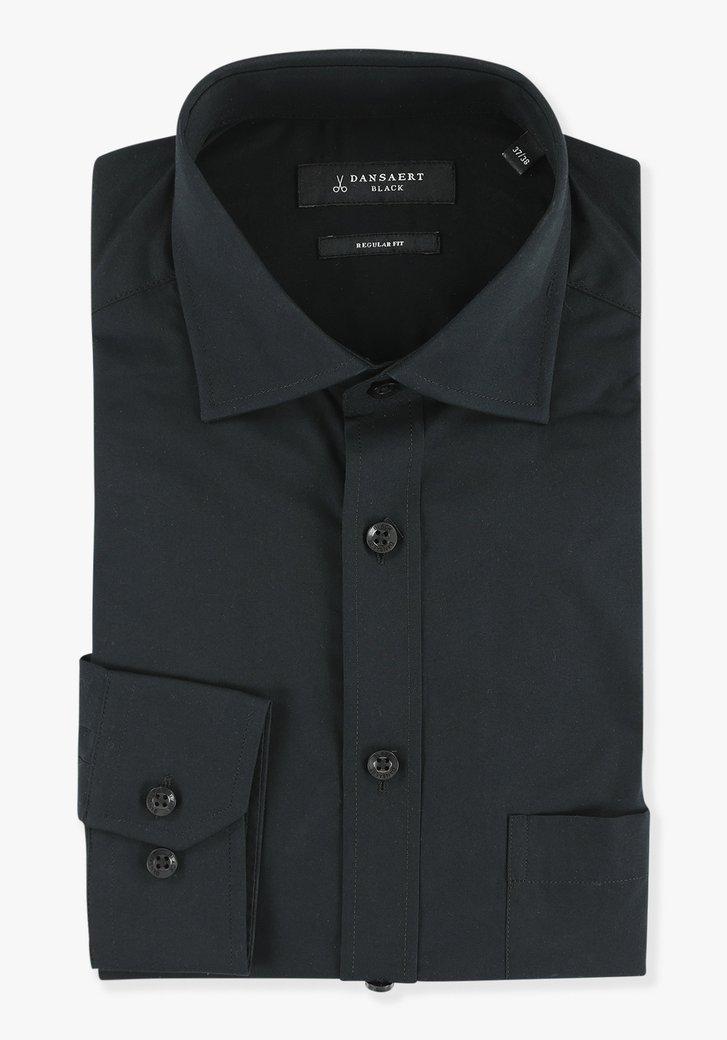 Zwart hemd - regular fit