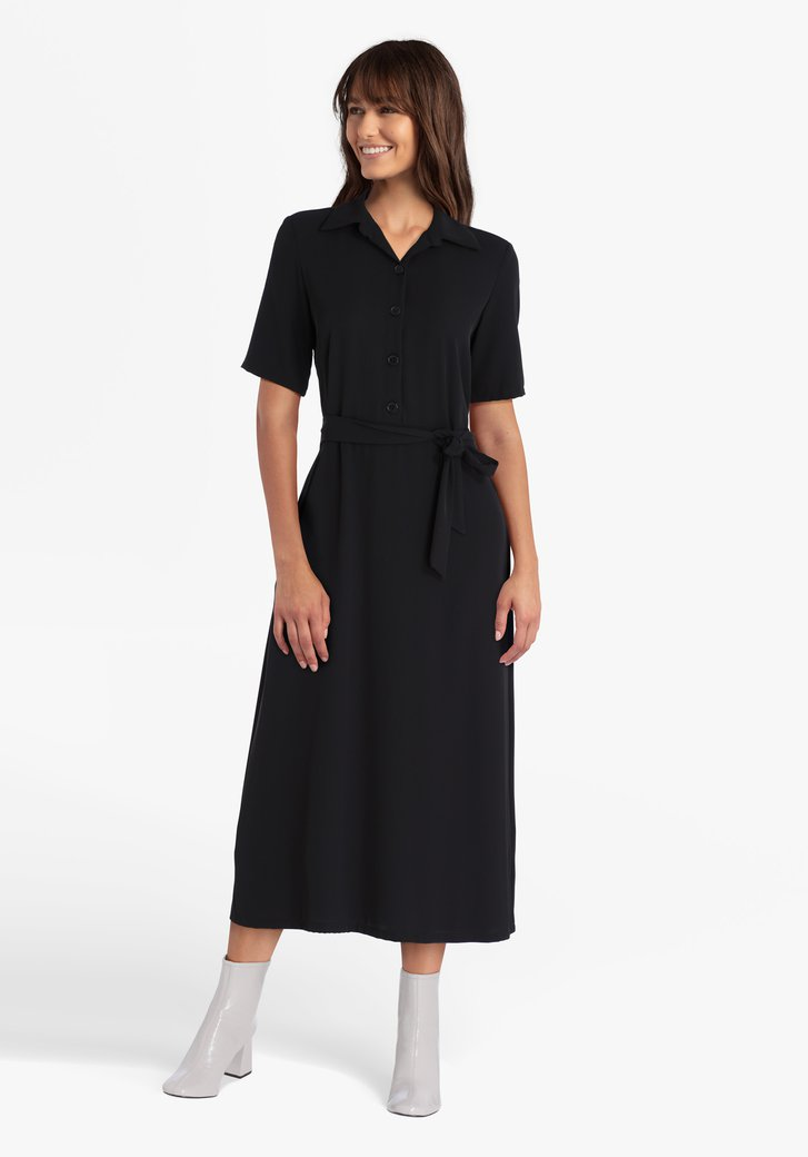 Zwart lang kleed