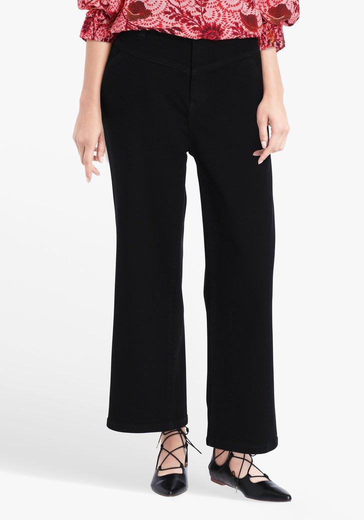 Zwarte 7/8 jeans - mom fit