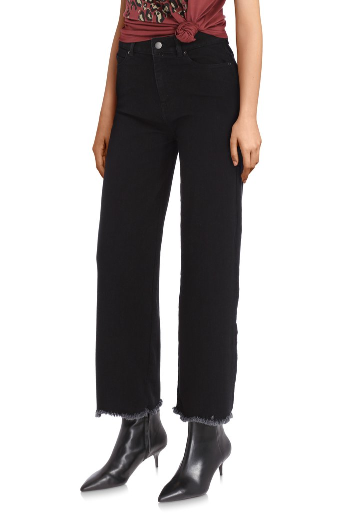 Zwarte 7/8ste mom jeans - straight fit