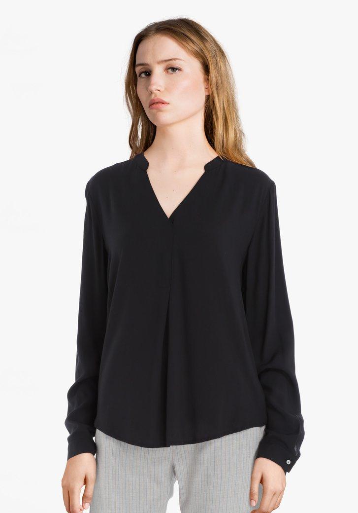 Zwarte blouse in viscose