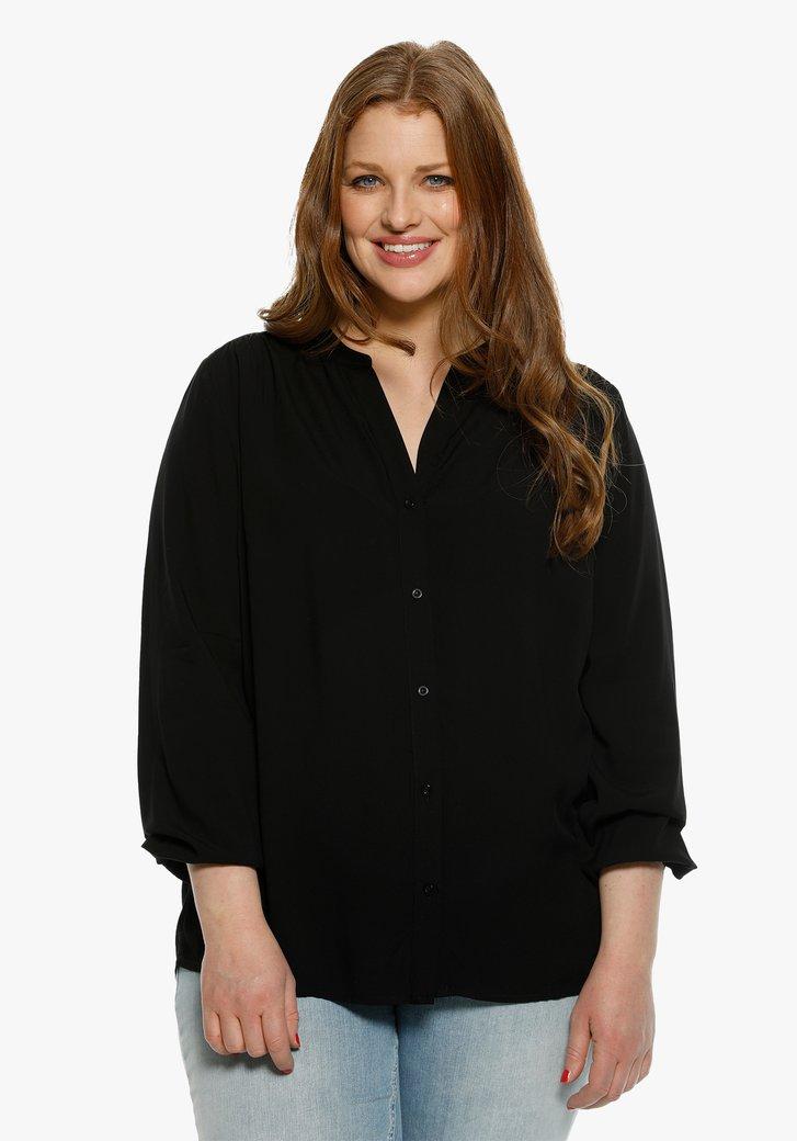 Zwarte blouse met V-hals