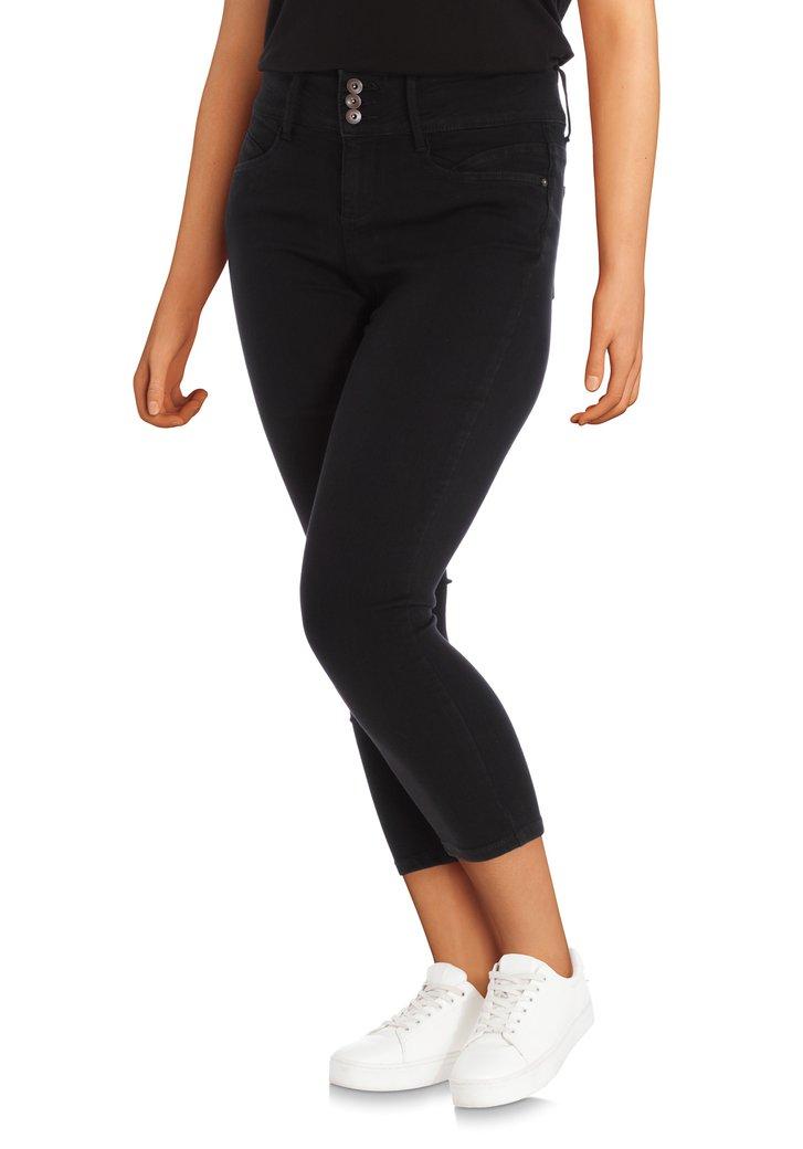 Zwarte broek met hoge taille - slim fit