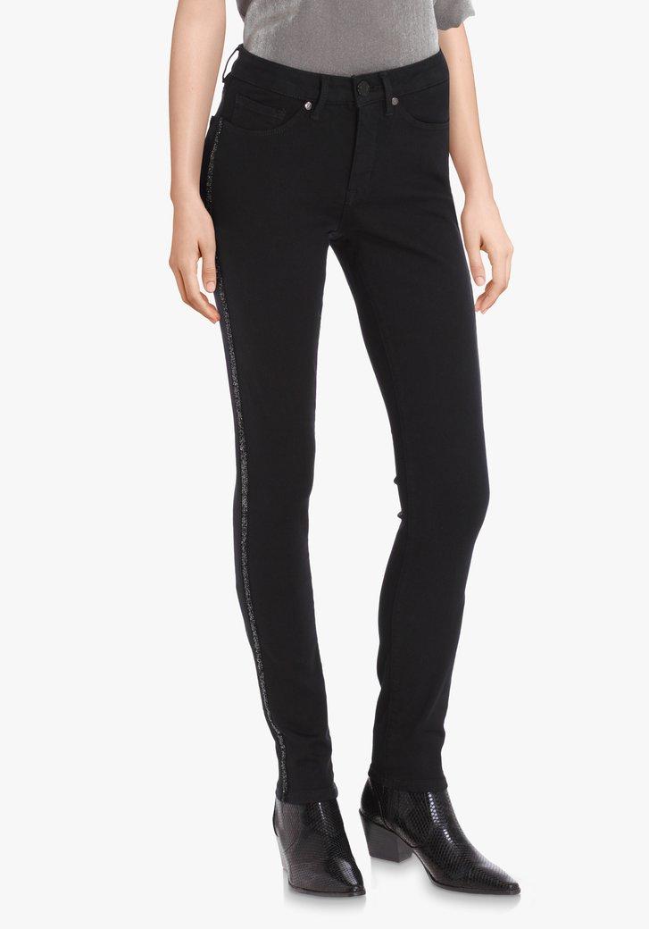 Zwarte broek met lurex – slim fit