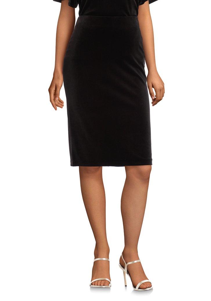 Afbeelding van Zwarte fluwelen rok