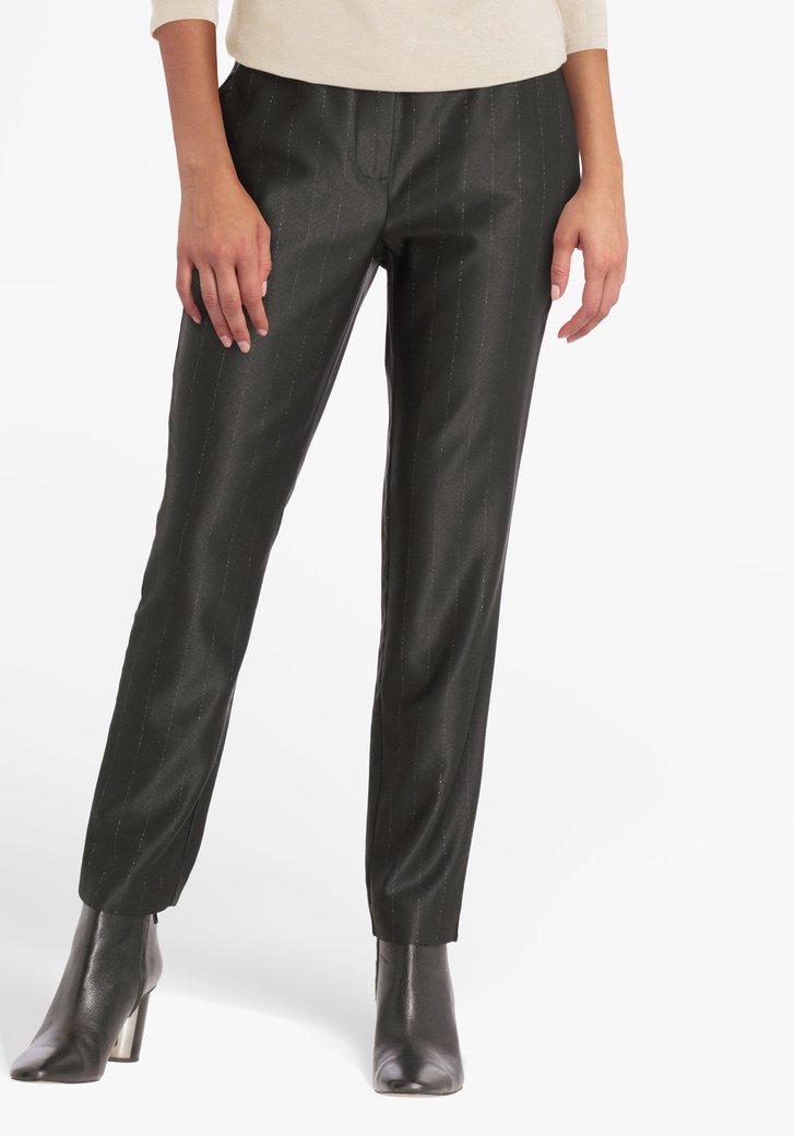 Zwarte geklede broek met glitterdraad