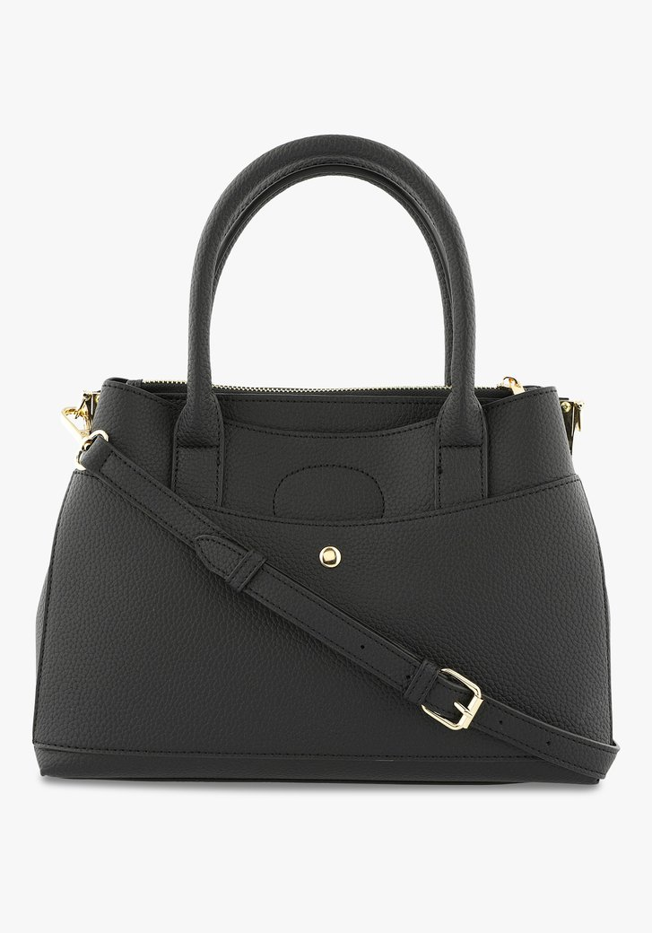 Zwarte handtas in kunstleer