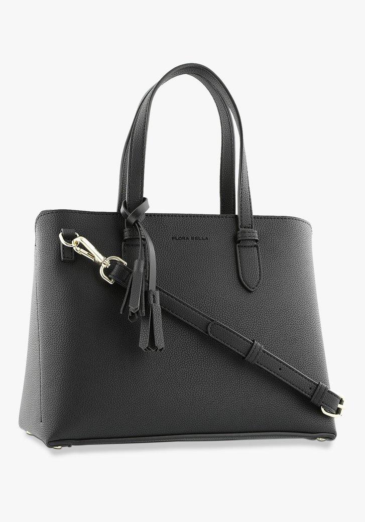 Afbeelding van Zwarte handtas in kunstleer
