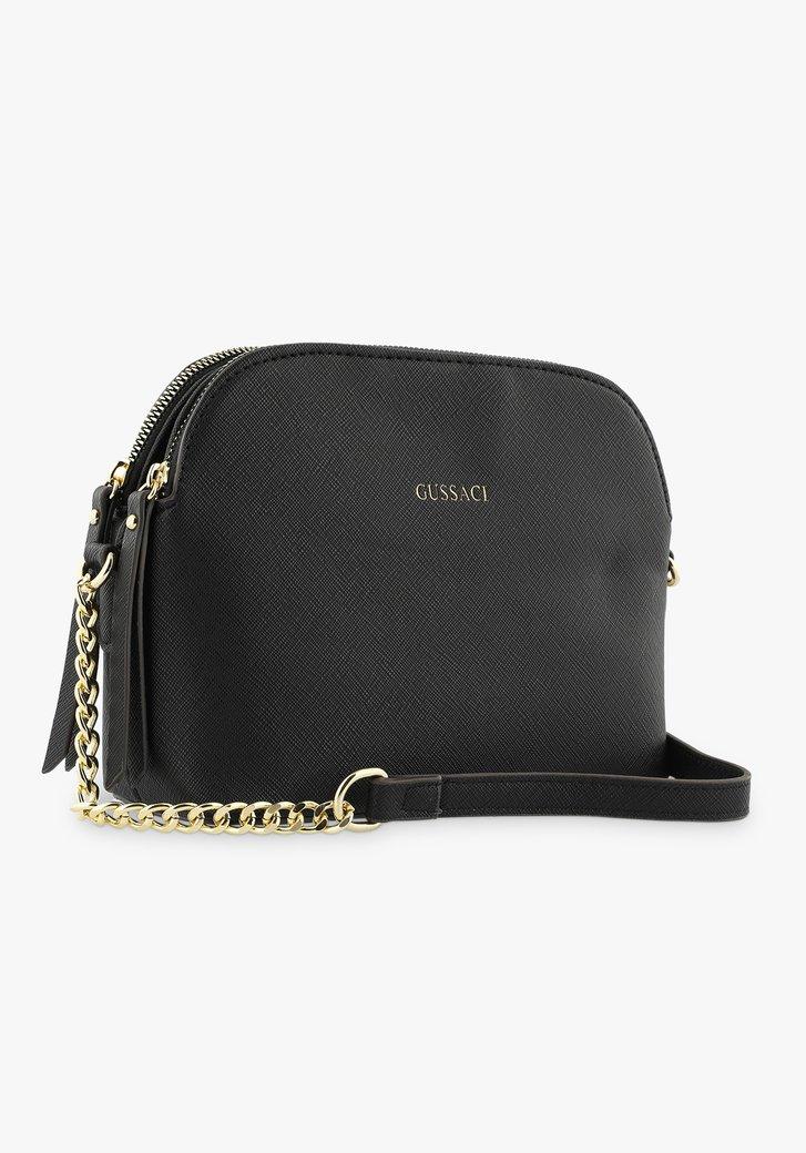 Zwarte handtas met 3 vakken