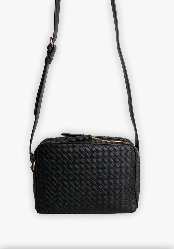 Zwarte handtas met motief
