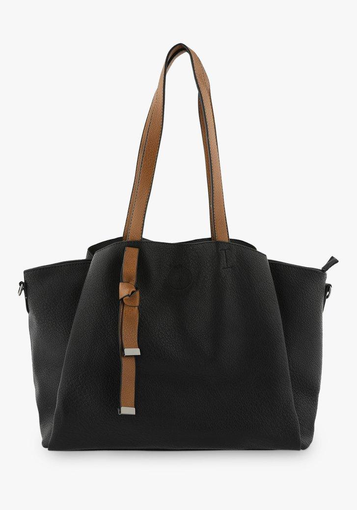 Zwarte handtas met schouderriem